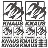 Knaus XL Decal Wohnwagen Mobile home sticker 14 Pieces aus Hochleistungsfolie Aufkleber Autoaufkleber Tuningaufkleber vo