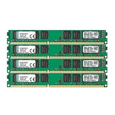 Kingston KVR1333D3N9K4/32G Arbeitsspeicher 32GB (DDR3 Non-ECC CL9 DIMM Kit, 240-pin, 1.5V)