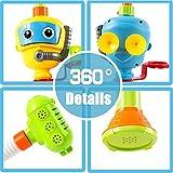 INCHANT Baby Bad-Spielzeug Wasser-Dusche Sprayer Wasserspielzeug Badewanne Brunnen Spielzeug für Kinder Kleinkind Badspielzeug mit Sucker Early Education Interaktive über 3 Jahre älter Toddlers (Blau) - 3