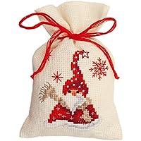 Vervaco, contati Punto Croce Kit Bag Pot Pourri E Babbo Natale Sciarpa, Multi-Colori