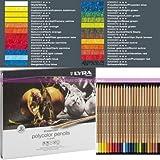 Lyra Germany Lot de 24 Crayons Rembrandt Polycolor de Couleurs Assorties pour Artistes, en Boite métal