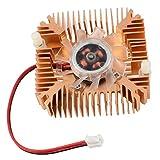 Ventilador de refrigeracion - SODIAL(R)2 Pines Ventilador de refrigeracion Enfriador disipador de calor de tarjeta de video VGA de computadora