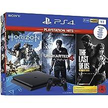 PlayStation 4  - Hits Bundle (1TB, schwarz, slim) inkl. Uncharted 4, The Last of Us, Horizon Zero Dawn