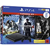 PS4: PlayStation 4  - Hits Bundle (1TB, schwarz, slim) inkl. Uncharted 4, The Last of Us, Horizon Zero Dawn
