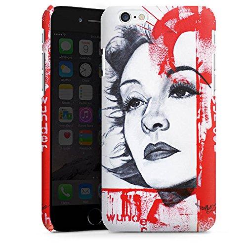 Apple iPhone X Silikon Hülle Case Schutzhülle Zarah Leander Zeichnung Frau Premium Case matt