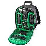 Amcool Kamerarucksäcke für Canon Nikon Sony,Universal Luxus Wasserdicht DSLR Fall mit Karabiner Kamera Tasche(Grün)