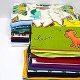 MAGAM-Stoffe Großes Stoffpaket Stoffreste Mängelware Paket Jersey Stoff Bündchenstoff Baumwollstoff Kinderstoff 5,5kg Paket 710