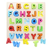 YouΞ Wooden Chunky Alphabet Puzzle Board