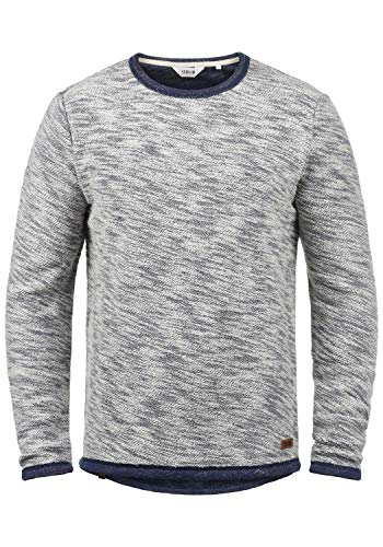 !Solid Flocks Herren Sweatshirt Pullover Flocksweat Pulli Mit Rundhalsausschnitt Aus 100{4a13adc492298562bfbaaacf398c11bbdc0e4e701214219a2c74a56cf1f3cc04} Baumwolle, Größe:L, Farbe:Insignia Blue (1991)