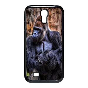 Customized Dual-Protective Case for SamSung Galaxy S4 I9500, Black Gorilla Cover Case - HL-703424