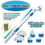 ACTIBRUSH + 6 Brosses - Brosse à récurer sans fil et rechargeable avec Rallonge -...