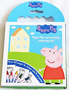 Peppa Pig Carry Along 60 page Colouring Book Set with Crayons and Carry Handle