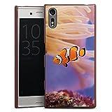 DeinDesign Sony Xperia XZ Lederhülle braun Leder Case Leder Handyhülle Anemonenfisch Clownfisch Nemo Fisch