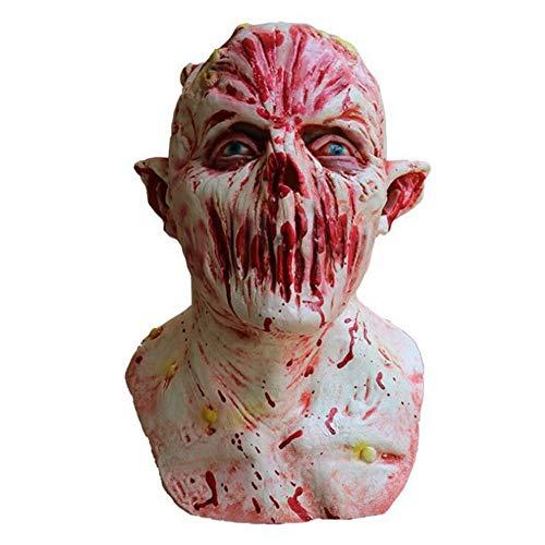 Bsjz Horror Latex Maske Scary Halloween Unisex