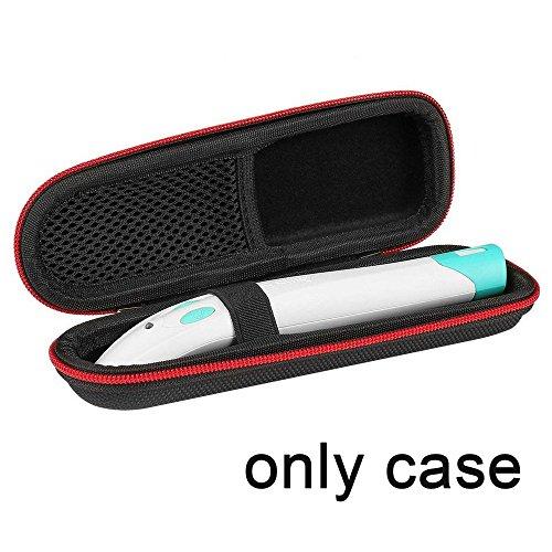 Shucase Bite Away Tasche, Hart Hülle für Bite Away - Elektronischer Stichheiler gegen Juckreiz Tasche Ganz schwarz