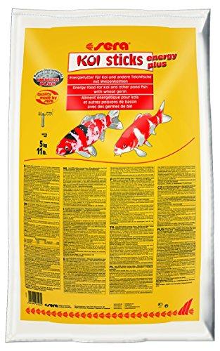 sera 07197 KOI sticks energy plus (5 kg) 40 l ein Koifutter bzw. Energiefutter für Koi mit Weizenkeimen -