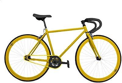 Wizard Industry Helliot Soho 5305 - Bicicleta fixie, cuadro de acero, frenos V-Brake, horquilla acero y ruedas de 26