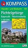 Fichtelgebirge, Bayreuth, Marktredwitz 1 : 50 000: Wander- und Radtourenkarte. GPS-genau - 191 Kompass