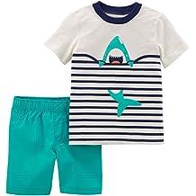 6f151973b5 Carter s - Set de Camiseta y pantalón Corto para bebé niño ...