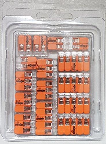 Wago Verbindungsklemmen GENISYS-SET® 5x221-412,5x221-413,5x 221-415 in praktischer transparenter wiederverschliessbaren Aufbewahungsbox