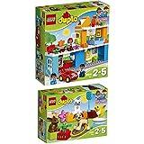 LEGO Duplo 2er Set 10835 10838 Familienhaus + Haustiere