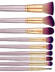 Set Pinceaux Maquillage, Lot de 9 Pinceaux de Maquillage Professionnel Sets de Pinceaux Poil Synthétique Super Doux Inclure Pinceaux Poudre Pinceaux pour le Visage Pinceaux pour les Yeux Pinceaux Paupières Pinceaux Liner