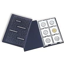 Leuchtturm 325026 Álbum de bolsillo para monedas con 10 hojas, cada una para 6 cartones de monedas, azul