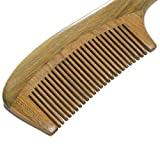 Welwel 100 Natural Green Sandalwood Comb Styling Hair Comb Straightening Hair Comb No Static Aromatic Comb High Quality Comb Large