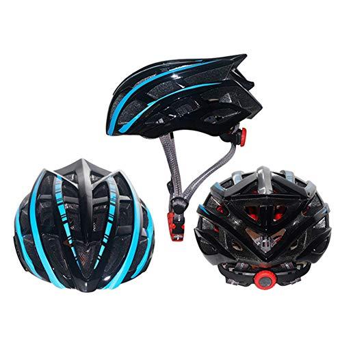 HS-GUANLY Einteiligehelm Fahrrad Helm Outdoor Extreme Sport Entwicklung Radfahren Fahrrad Helm Straße Mountainbike CE Zertifizierung Helm Nacht Spezielle Fahrrad EPS + PVC,Black,52~60cm - Fahrrad Helm Mohawk