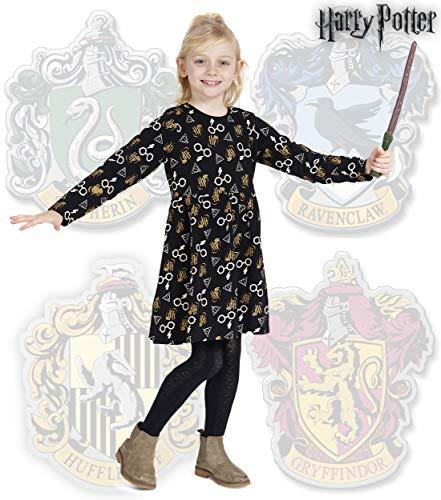 51T7GcJ2qML - Harry Potter. Merchandising Vestidos para Niña de Fiesta Gryffindor Magia Hogwarts (6 años)