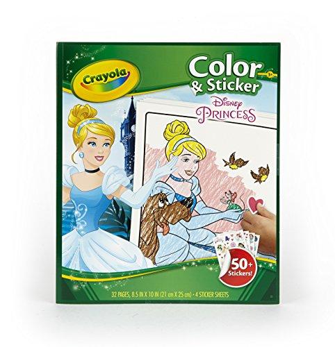 Crayola - 04-0202 - Livre À Colorier - Album Coloriage Et Autocollants Princesses Disney