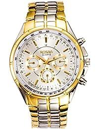 Reloj de pulsera moderno para hombre, de acero inoxidable, con mecanismo de cuarzo, en color negro.