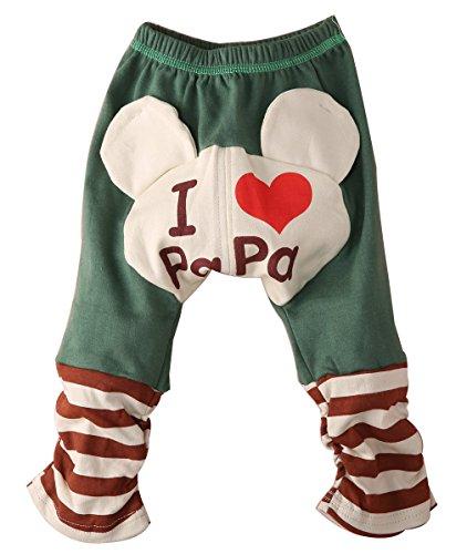 Uniqui Baby Jungen Mädchen Süßigkeit Karikatur PP Hose Jogginghosen (80 für 0-6 monate, braun)