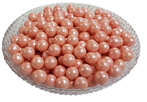 Sugarman Candy Glimmering Pink Bubble Gumballs by Sweet Maple Candies - 2lbs Bulk Bag