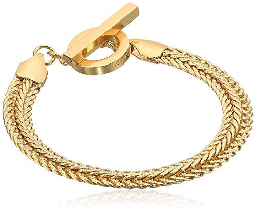Anne Klein Gold Ton Flache Kette Armband Flex 12cm