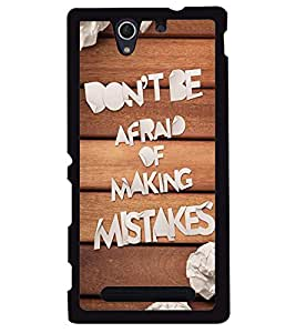 MENTAL MIND DESIGNER HARD SHELL BACK COVER CASE FOR Sony xperia C3