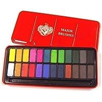 Major Brushes Watercolour Block Tin Set of 24 Colours