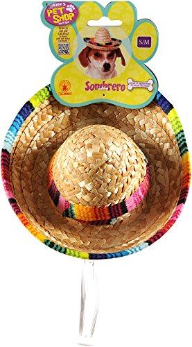 Sombrero Pet Hunde Kostüm–Klein/mittel (Erwachsene Sombrero)