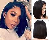 Best Lace Front Wigs - Smhair umani parrucca capelli corti Bob dritto 7alla Review