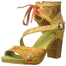 Laura Vita Bernie 178, Sandali con Cinturino alla Caviglia Donna, Arancione, 40 EU