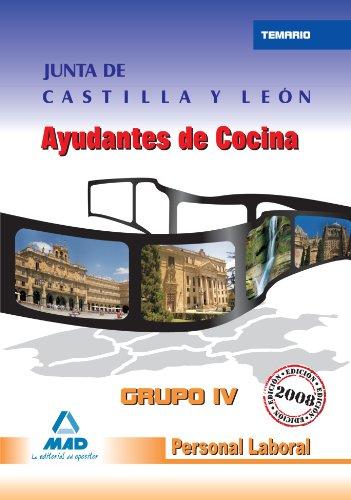 Personal Laboral De La Comunidad Autónoma De Castilla Y León. Ayudantes De Cocina. Temario