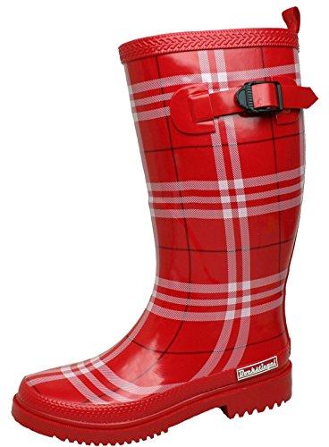 BOCKSTIEGEL-rita-bottes en caoutchouc pour femme-noir Rouge - Rouge