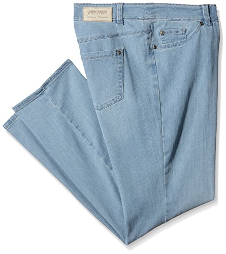 GERRY WEBER Edition Damen Jeanshose Roxy Elfenbein (Bleach Denim 827002)