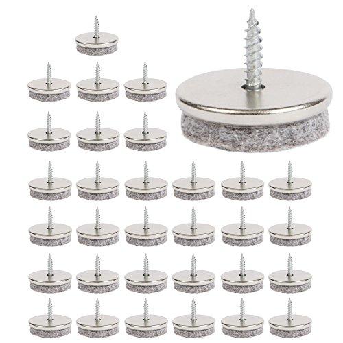 Almohadillas de fieltro para muebles, 28 mm de diámetro. Patas de fieltro...