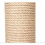 Jumbo Sisal-Coated Scratching Post XXL - Extremely Stable with Thick Sisal Coating and Extra Thick, Heavy Base Plate - Ideal for Larger and Heavier Cat Breeds such as Ragdolls, British Shorthairs or Maine Coons 11