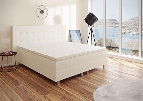 Best For You Boxspringbett RIO Barcelona 5-Zonen mit Visco Topper H3 First Class Bett in verschiedenen Farben und Größen