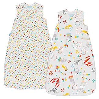 51T7LiH LPL. SS324  - Grobag Pack de 2 Sacos para dormir bebé 1.0/2.5 tog, Multicolor,