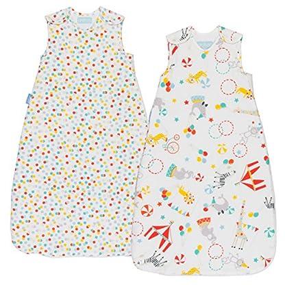 Grobag Pack de 2 Sacos para dormir bebé 1.0/2.5 tog , Multicolor,
