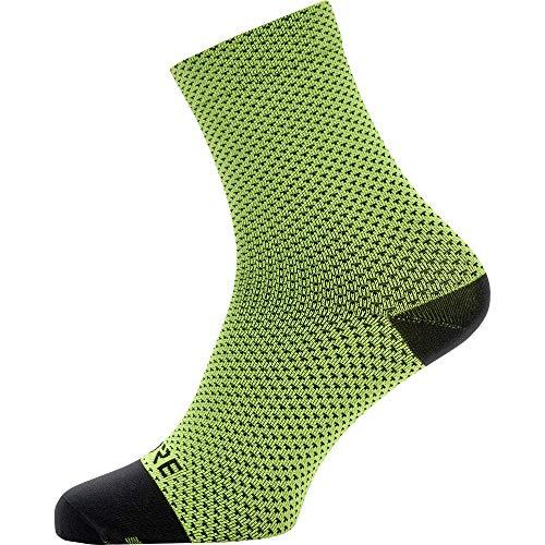 GORE WEAR C3 Unisex Fahrrad-Socken, Größe: 41-43, Farbe: Neon-Gelb/Schwarz