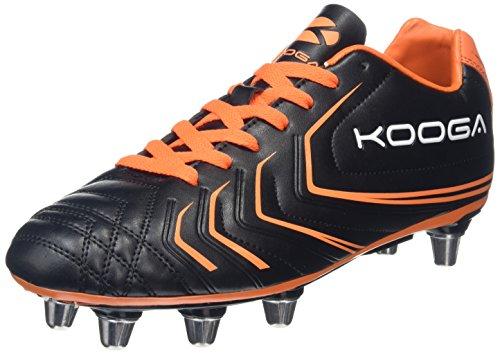 Kooga Warrior 2, Scarpe da Rugby Uomo, Nero (Black/Orange), 45 EU